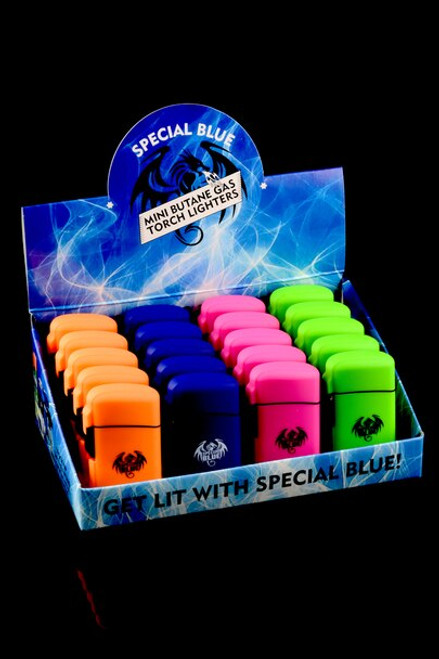 Special Blue Mini Rubber Lighter 20pc Display