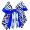 Large Zebra Double Layer Bow - Fused  LB550DLFSZEBRA LB550DLFSZEBRASP LB550DLFSZEBRAMS