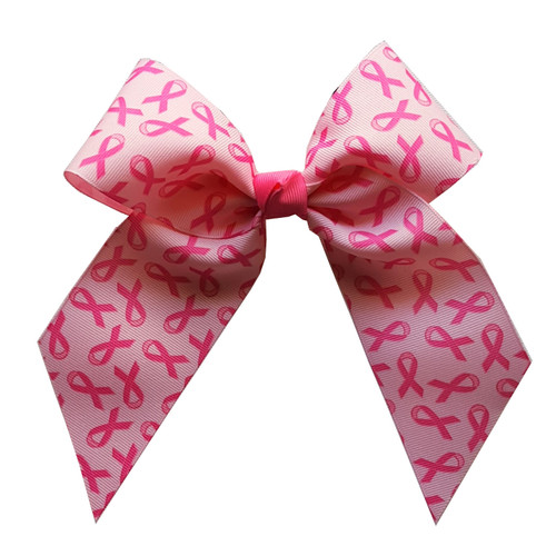 Large Breast Cancer Awareness Bow  LB100BC