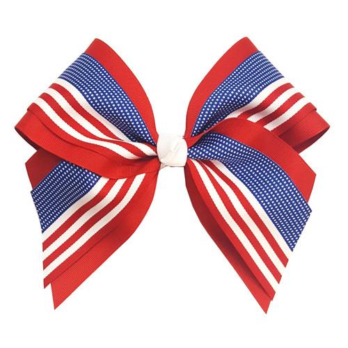 Extra Large Multi Layer U.S. Flag Bow XLMLBFLAG