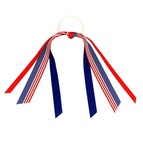 Flag Ribbon Scrunch  RIBFLAG