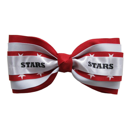 4 Layer Bow Tie with Print and Mascot  TIE400PRMS