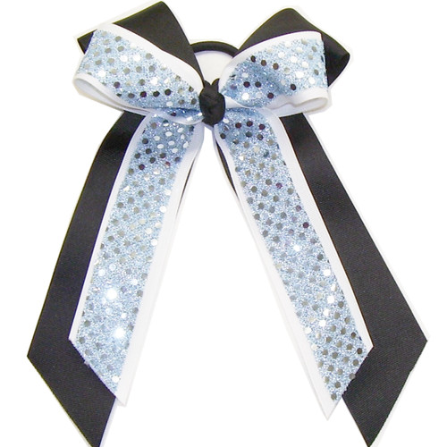 Large Double Bow with Sequin  LDB300SE