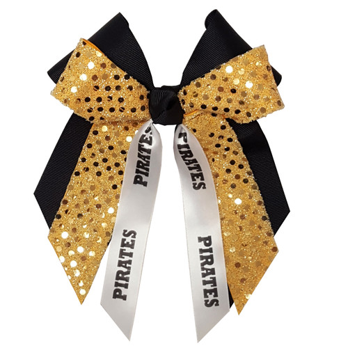 Large Double Bow with Sequin & Mascot  LDB300SEMS