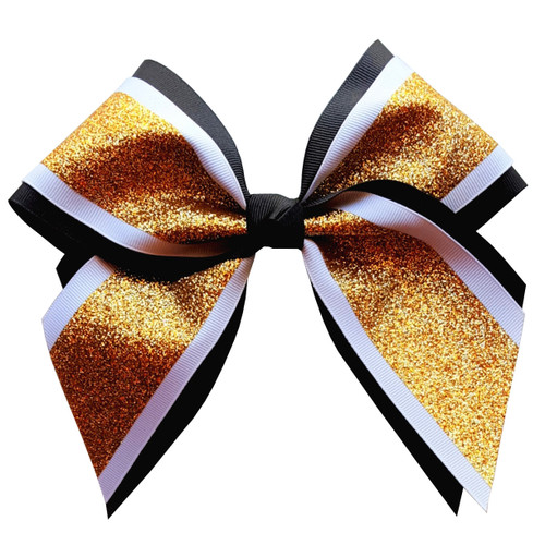 Extra Large Two Layer Bow with Glitter Accent  XLMLB150