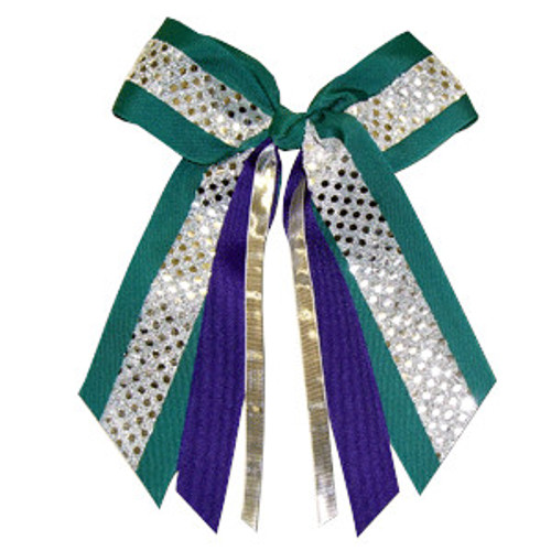 Large Bow Sequin Accent with Streamers  LB400 LB400MR LB400MR1