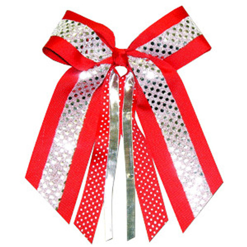 Large Bow Sequin Accent with Print  Streamer  LB500PR