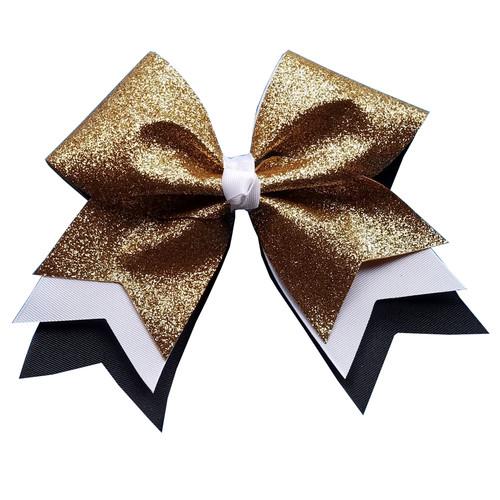 Extra Large Arrow Tail Glitter Bow with or without Mascot or Sport  XLAR100GL XLAR100GLSP XLAR100GLMS