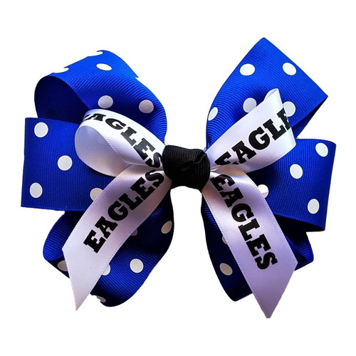 Six Loop Bow with Print and Mascot
