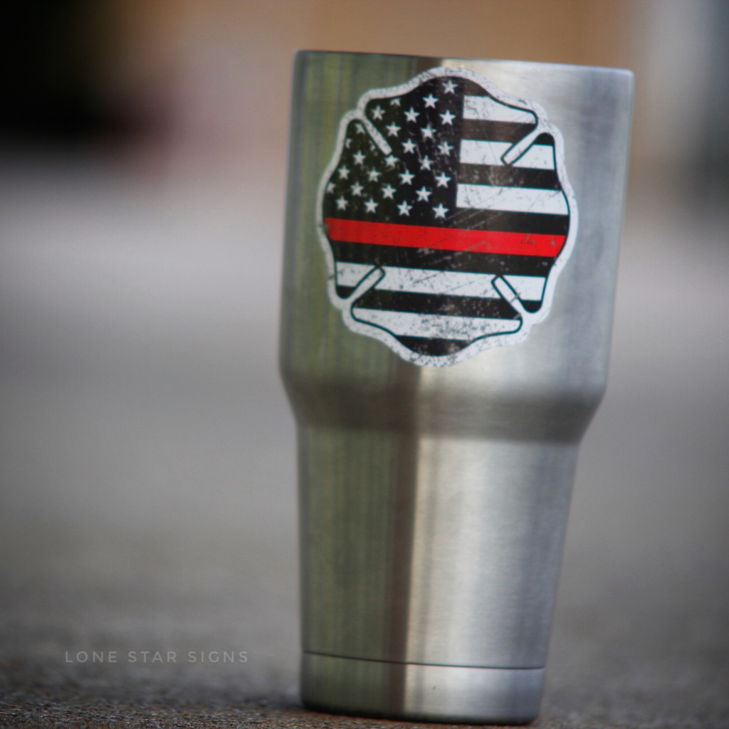 Thin Red Line Maltese Cross