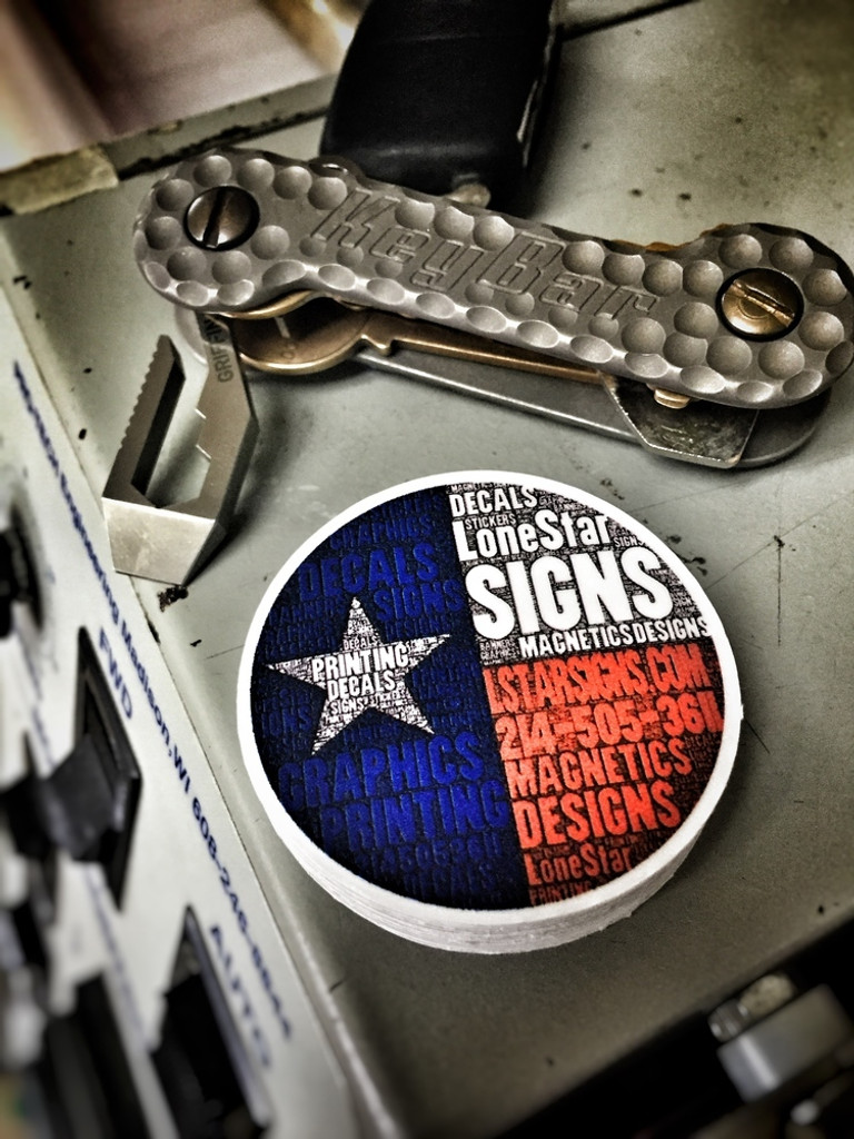 Lone Star Signs Circle - Sticker