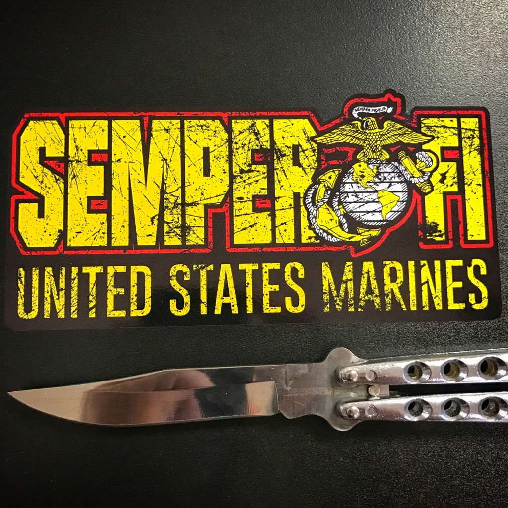 Semper Fi Large - Sticker