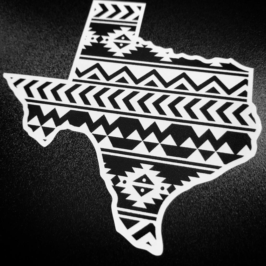 Texas B&W Aztec - Sticker