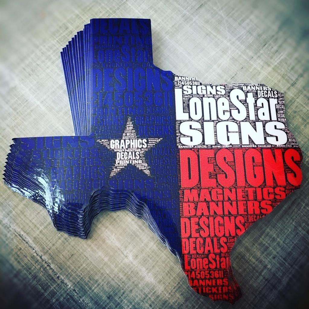 Texas Lone Star Signs - Sticker