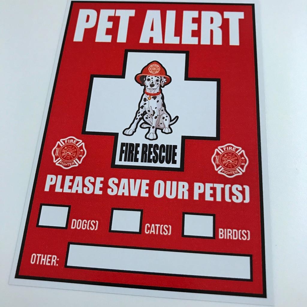 Pet Safety Alert - Sticker