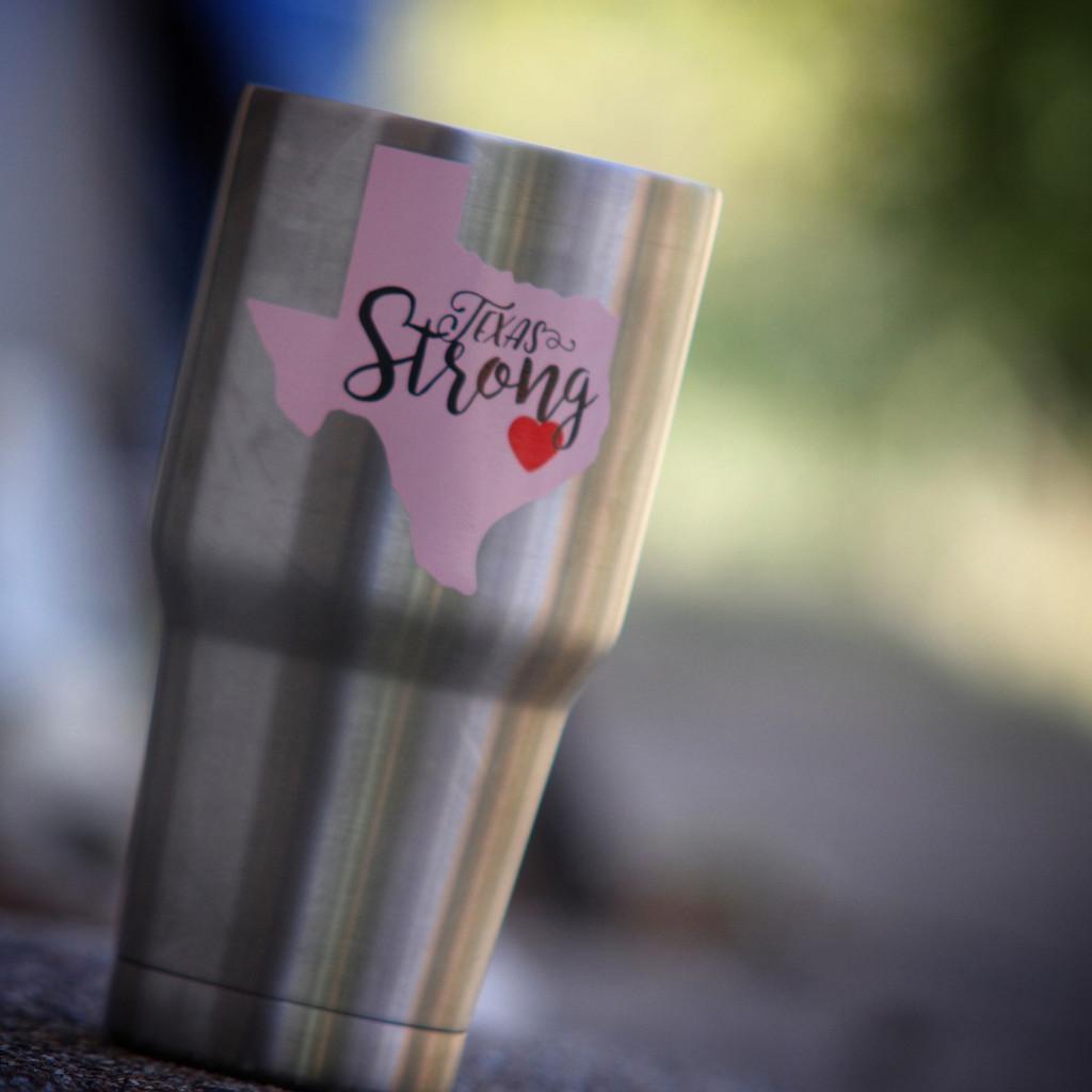 Texas Strong Pink Sticker
