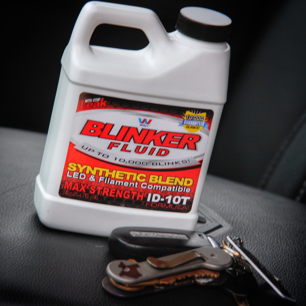 Blinker Fluid Bottle Gag Gift