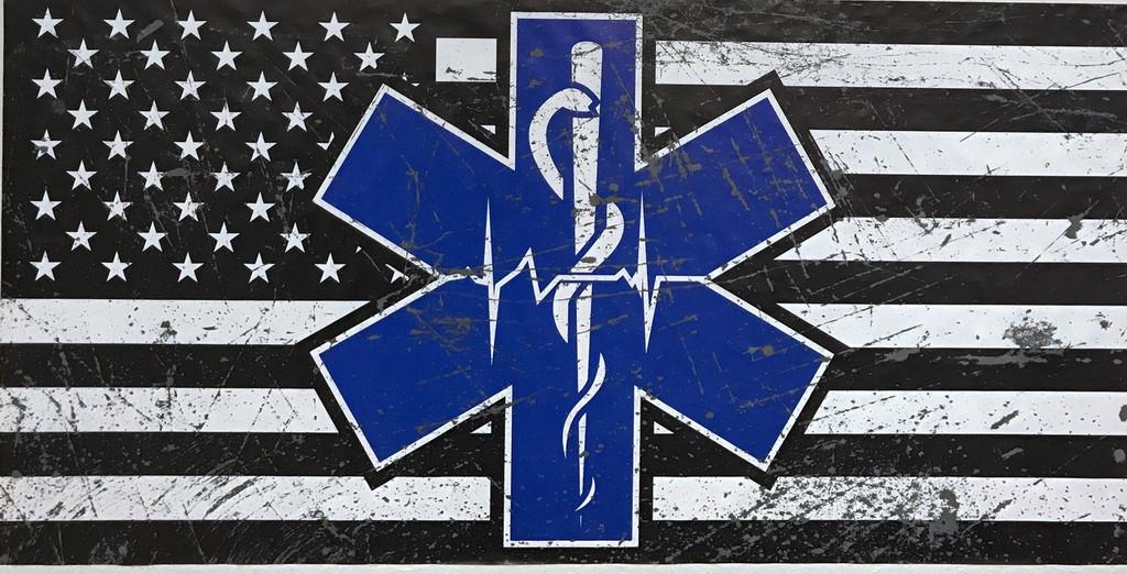 Paramedic Flag - Wall Decal