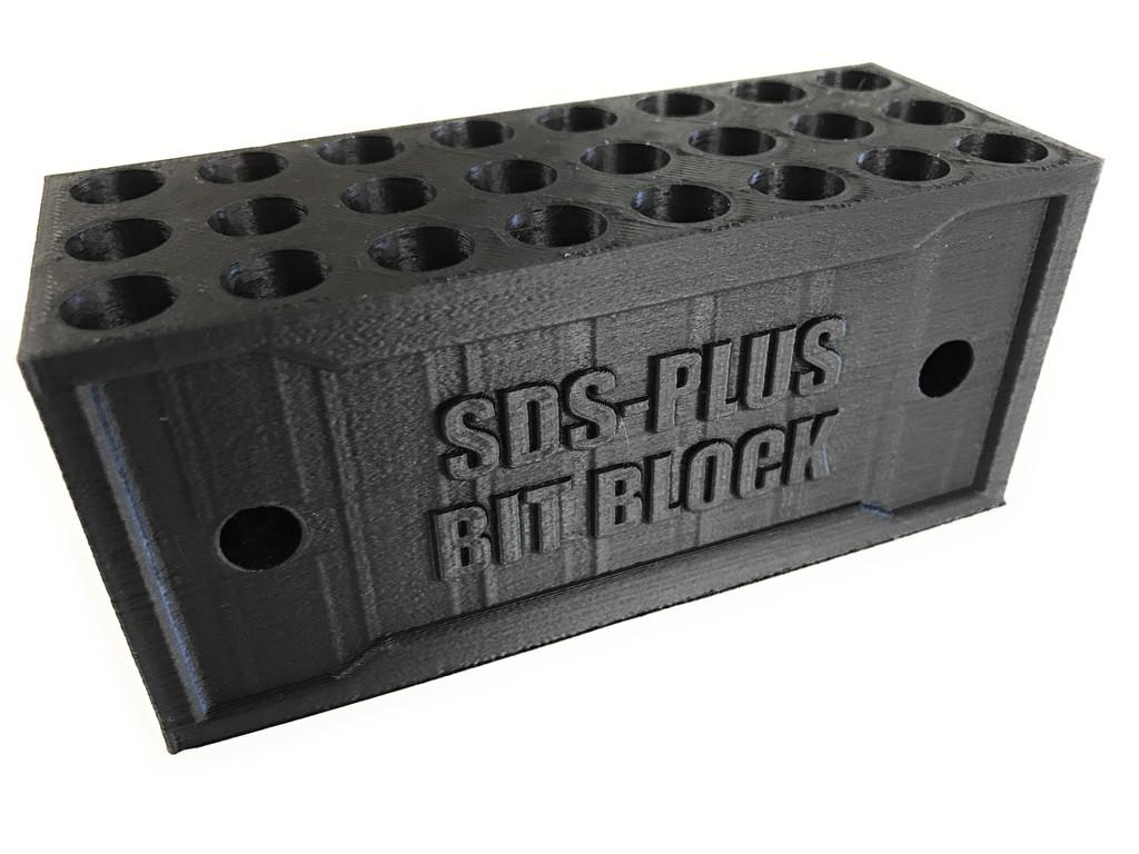 SDS Plus Bit Block Holder Organizer For Drill Bits