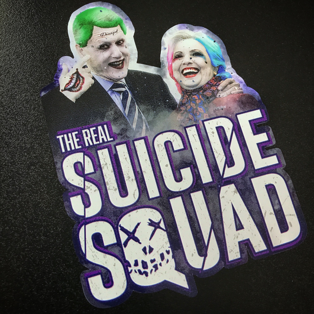 The Real Suicide Squad Bill and Hillary Clinton - Sticker
