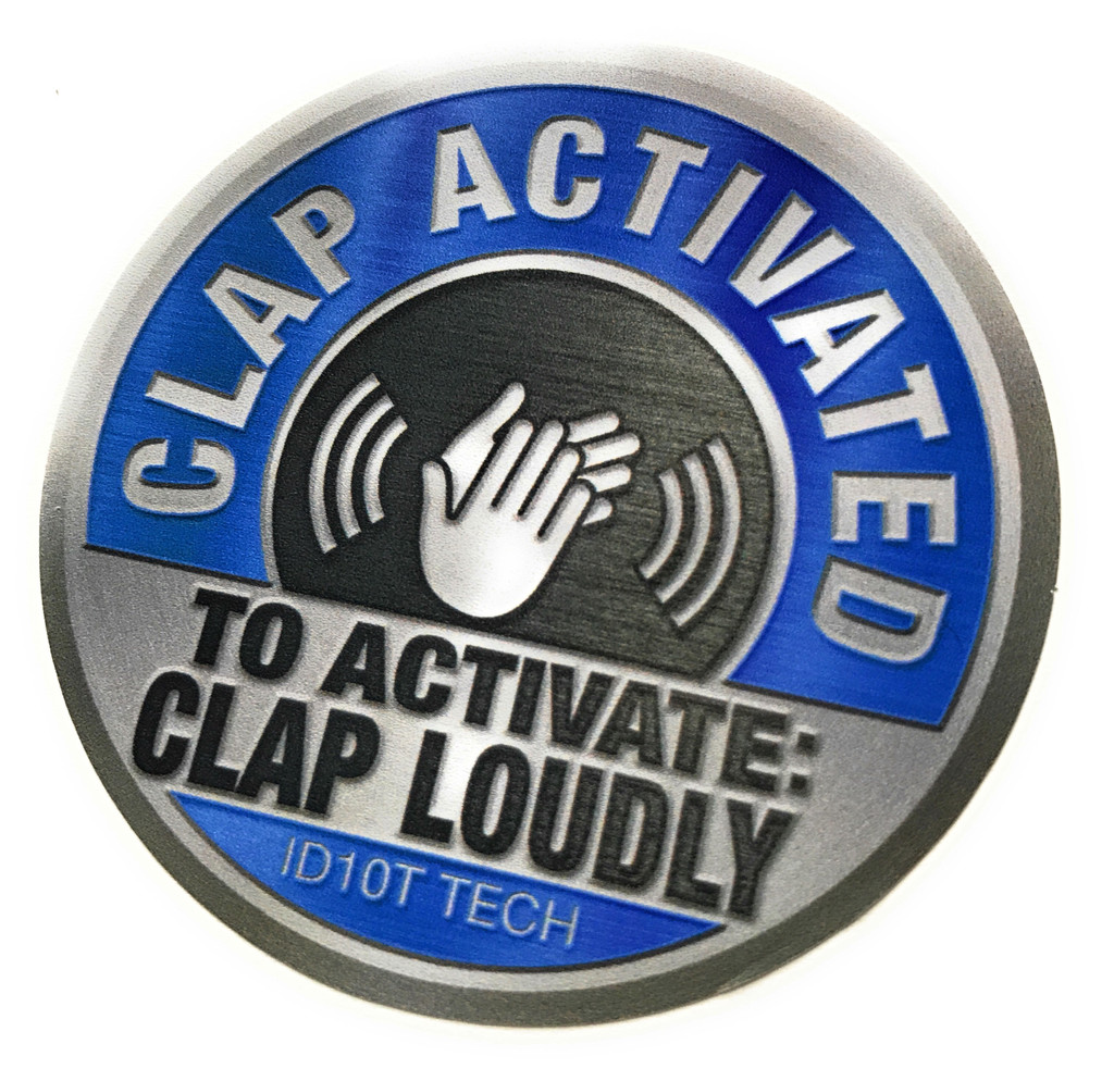Clap Activated Clap Loudly (2 pack) - Sticker