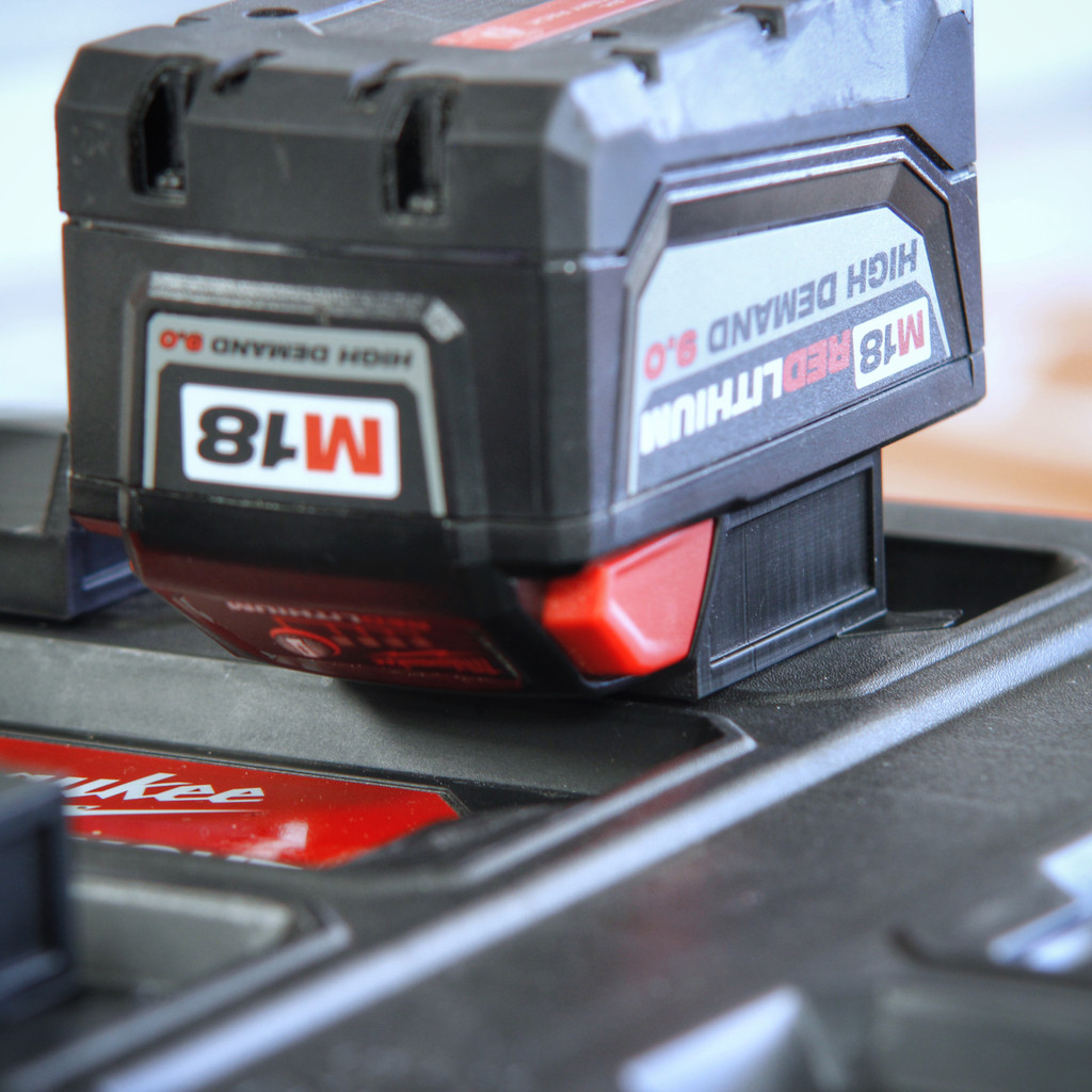 Battery Mount Adapter Dock Holder for Milwaukee M18 to Packout