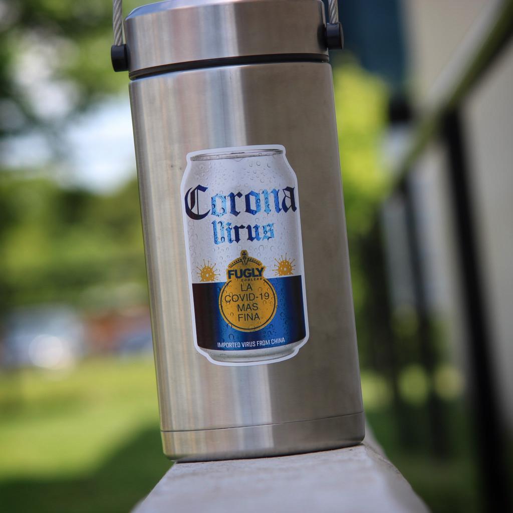 Corona Virus Beer Can - Sticker
