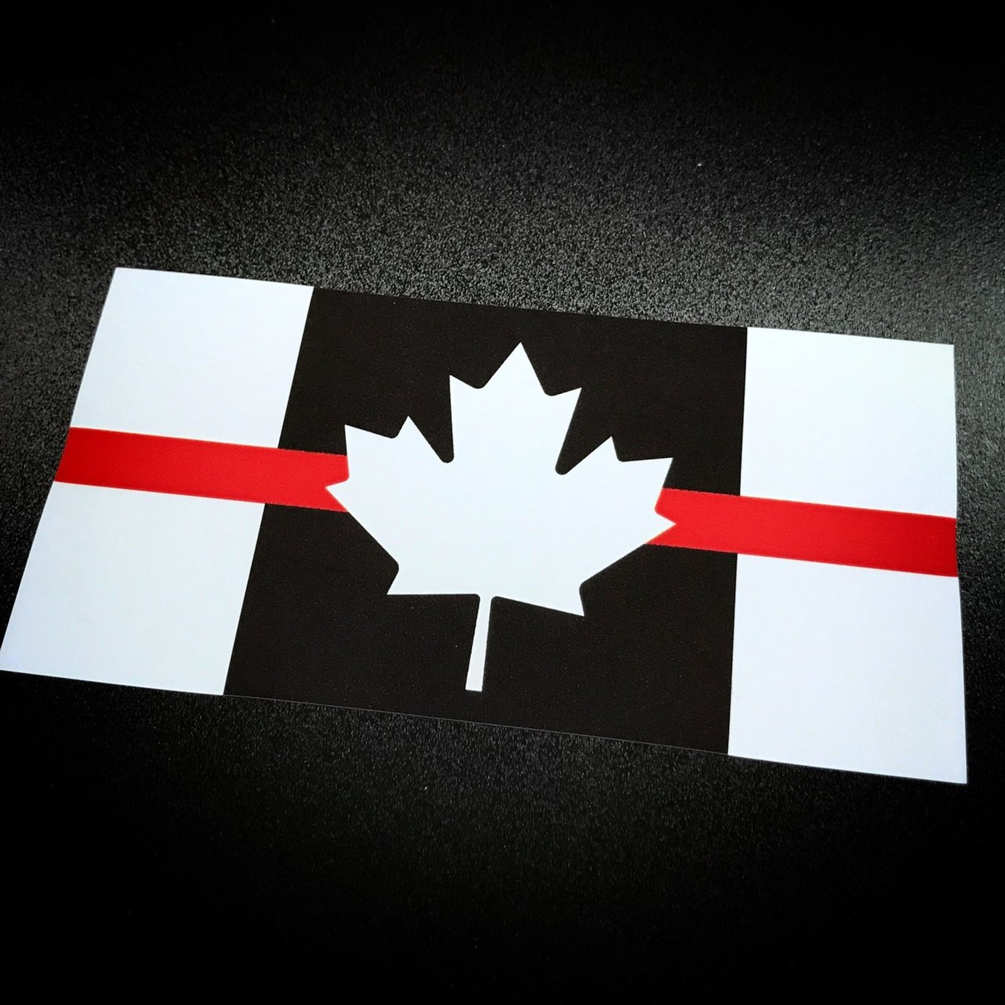 Canada flag red stripe sticker