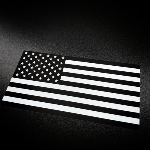 American Flag Black & White - Sticker