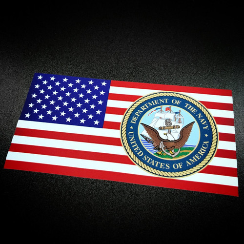 American Flag Department Of NAVY - Sticker