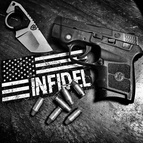 American Flag Infidel - Sticker