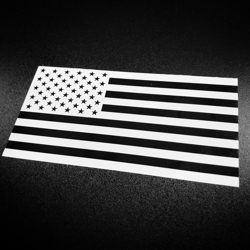 American Flag Inverted Black & White - Sticker