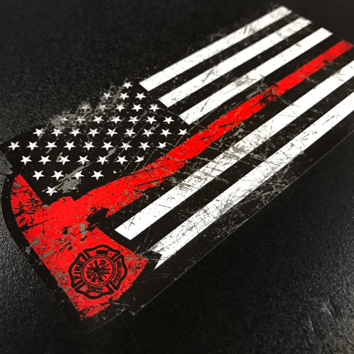 American Firefighter Rex Axe sticker