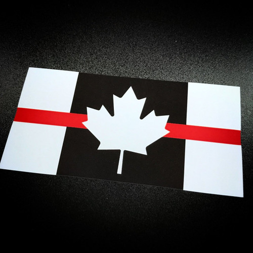 Canada Flag Red Stripe - Sticker
