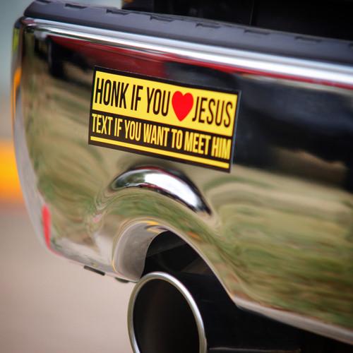 Honk If You Love Jesus - Sticker