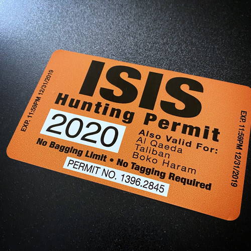 2020 ISIS Hunting Permit
