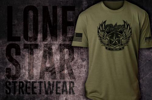 Lone Star Military Green - Shirt