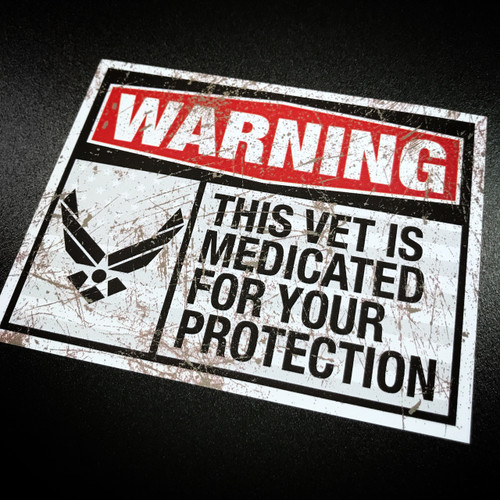 Medicated Veteran AIR FORCE - Sticker
