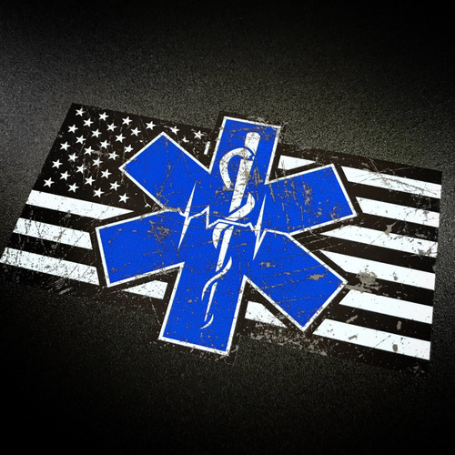 Paramedic EMS EMT Flag Sticker
