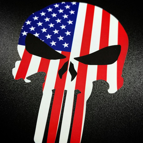 Punisher American Flag - Sticker