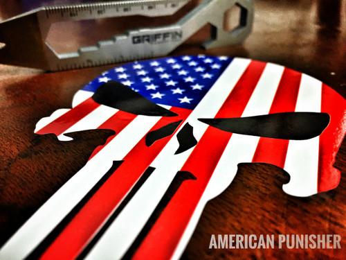 Punisher American Flag - Sticker