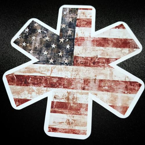 STAR OF LIFE RWB American Flag sticker