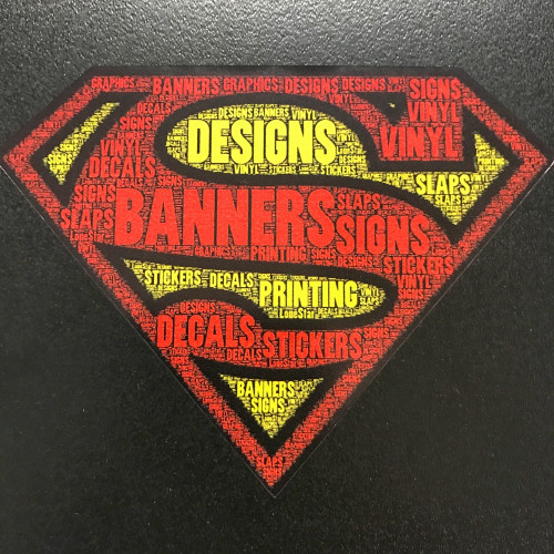 Superman w/words - Sticker