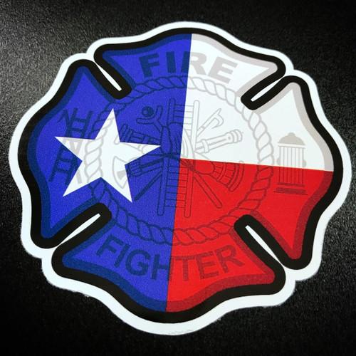 Texas Firefighter Maltese Cross