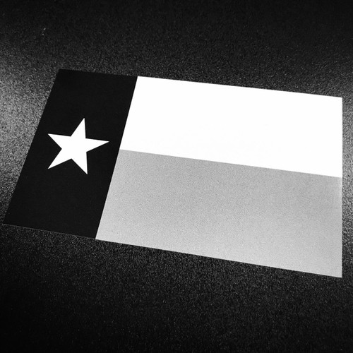 Texas Flag Black & White - Sticker