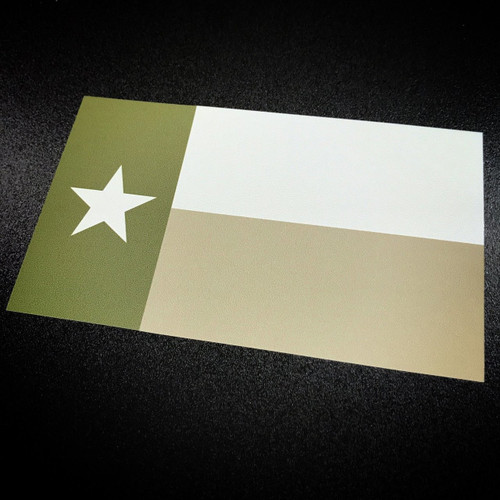 Texas Flag Green - Sticker