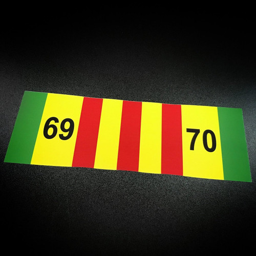 Vietnam Ribbon 69-70 - Sticker