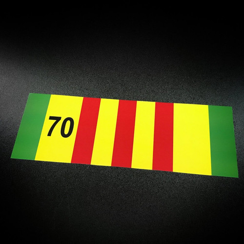 Vietnam Ribbon 70 - Sticker