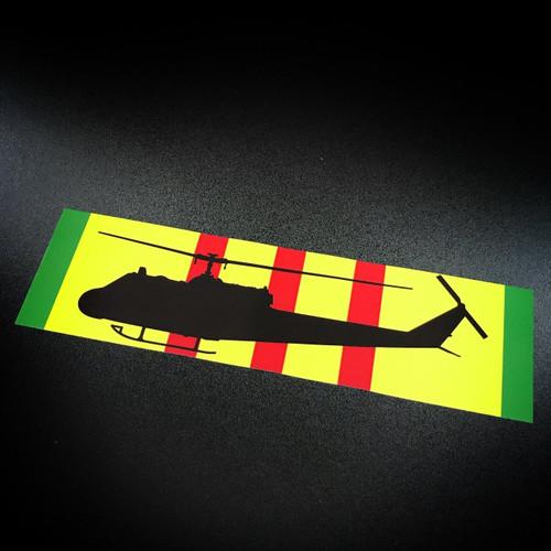 Vietnam Ribbon Helicopter - Sticker