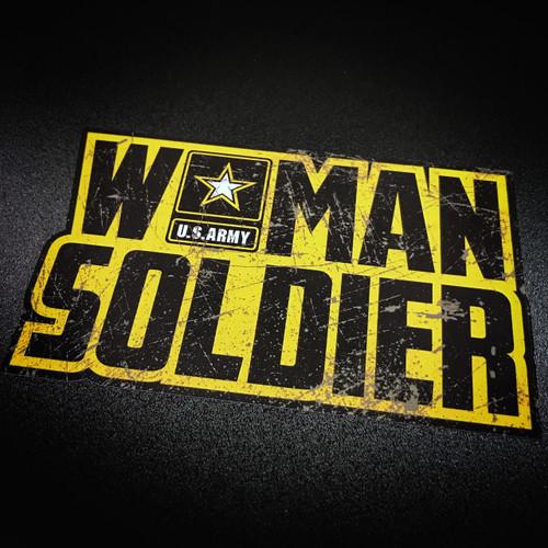 Woman Army Soldier - Sticker